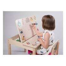Столик для детей для творчества с мишкой и алфавитом + ящик