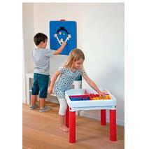 Детский стол для конструктора и творчества в игровую зону (3 в 1) Keter