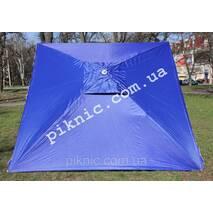 Парасолька торгова 2х2м Срібло   Вітровий клапан. Потужна парасолька для торгівлі на вулиці. Синій!