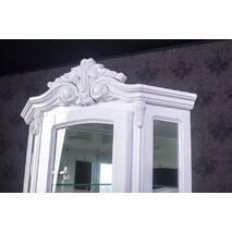 Белая угловая витрина Версаль Барокко стиль из дерева