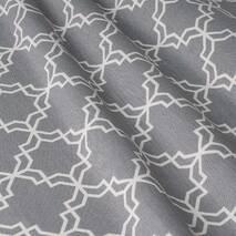Ткань для штор хлопок с геометрическим узором на сером