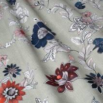 Ткань для штор натуральный хлопок с цветами в спальную, гостиную