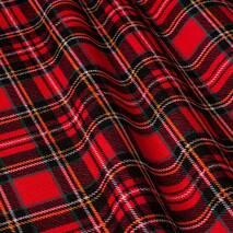Ткань красная клетка для штор, скатертей, римских штор, покрывал