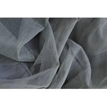 Тюль однотонный батист без блеска цвет серый