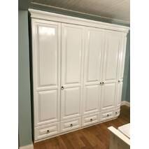 Біла 5ти дверна шафа Омега з радіусною дверкою дерево