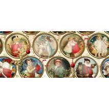 Ткань хлопковая для декора новогодние виньетки