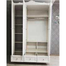 Белый гардеробный шкаф Элис массив дерева