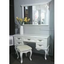 Белый туалетный столик Амальтея с зеркалом