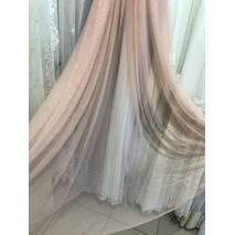 Тюль со стразами розового цвета в спальную, детскую