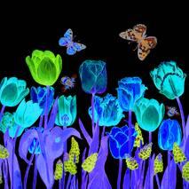 """Серветки  ТМ """" La Fleur""""  ЗЗхЗЗ,  2 шари """"Квіти під вікном"""" 20шт."""
