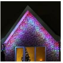 Гирлянда светодиодная LTL Sople занавес 200 led длина 6.4 метра  разноцветная RGB + переходник (003SAG 0179)