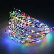 Светодиодная гирлянда LTL капля росы 100led 10 метров 8 режимов свечения 220V RGB Multi (003SAG 0456)