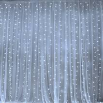 Светодиодная гирлянда штора LTL curtain 3*3 метра 300 led 220v белое свечение (003SAG 0458)