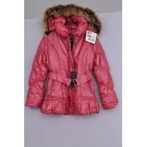 Л-87 Куртка зимняя  для девочки рост 140  красная