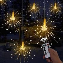 Светодиодная гирлянда феерверк Firework автономная 120LED, длина нити 16см с пультом (003SAG 0297)