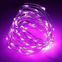 Светодиодная гирлянда LTL Капля росы длина 10м 100led Фиолетовая Purple батарейки (003SAG 0394)