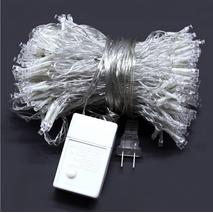 Светодиодная гирлянда LTL штора Сurtain 3*3 метра 300 led 220v розовая (003SAG 0457)