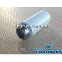 """Білий подовжувач від 10 до 90 мм Різьбове з'єднання внутр. 1/2"""" - зовнішня 1/2""""; Фарбований 90"""