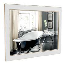 Зеркало Беатриче 80 см белый патина золото Аквародос