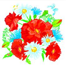 """Серветки  ТМ """" La Fleur""""  ЗЗхЗЗ,  2 шари """"Польова радість"""" 20шт."""