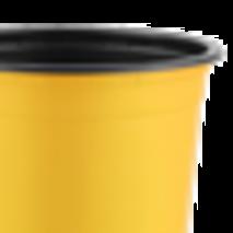 Горщик TEKU 0,29л 9x6,8см жовтий