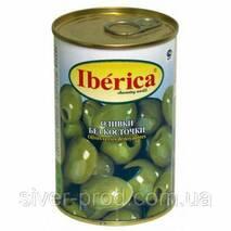 Оливки зеленые без косточки 300г Iberika (1/12)