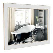 Зеркало Беатриче 100 см белый патина золото Аквародос