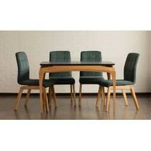 Кухонный раскладной стол Нави софт со стульями из дерева