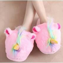 STK Домашние женские розовые тапочки Единороги