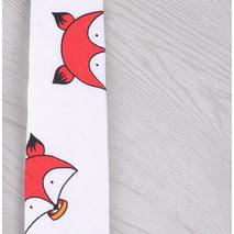 """STK Краватка з принтом біла краватка """"червоний лис"""""""