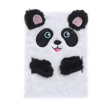 STK Пушистый блокнот Панда белый, А5
