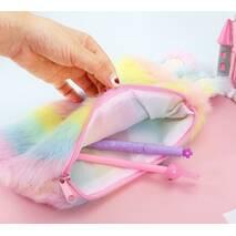 STK Пенал Зайка меховый разноцветный