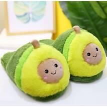 STK Тапочки авокадо плюшевые зеленые, 35-38