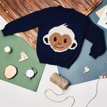 TASHKAN Свитер Литл обезьянка, синий