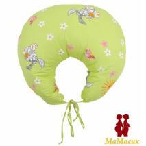 Подушка для кормления с завязками (полистироловые шарики) расцветки в ассортименте