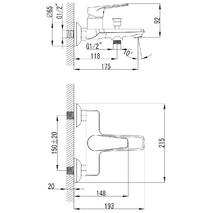 BARKA Imprese cмеситель для ванны, хром, 35 мм