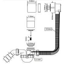 Сифон автомат для ванни McApine HC31M-S1