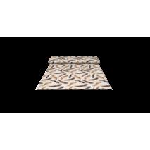 Ткань для штор перья коричневые на белом фоне в спальную, детскую
