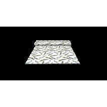 Ткань для штор перья серые на белом фоне в спальную, детскую