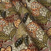 Ткань для штор хлопок коричневые листья
