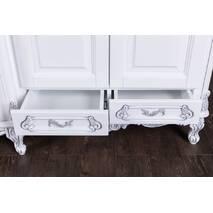 Біла гардеробна шафа Моніка Бароко стиль