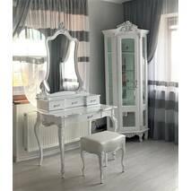 Білий туалетний столик із дзеркалом Моніка Бароко стиль