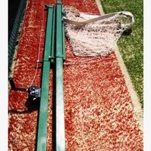 Стойки волейбольные с регулировкой высоты с устройством натяжения троса, в комплекте лебедкой и тросом