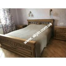Ліжко Едельвейс з масиву дерева