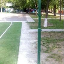 Стойки волейбольные с устройством натяжения троса в комплекте с лебедкой и тросом (без регулировки высоты)