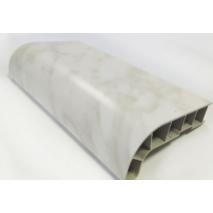 Подоконник ПВХ  Sauberg  600х1000 ламинация  белый мрамор