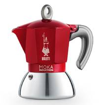 Гейзерная кофеварка Bialetti Moka Induction Red NEW (6 чашек - 360 мл)