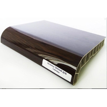 Подоконник ПВХ  Sauberg  600х1000 ламинация глянец  темный дуб