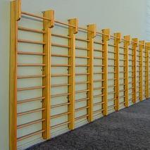 Шведская стенка деревянная 2600х800 с верхним турником