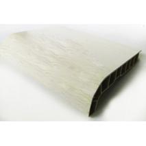 Підвіконня ПВХ  Sauberg  350х1000 ламінація  білий дуб